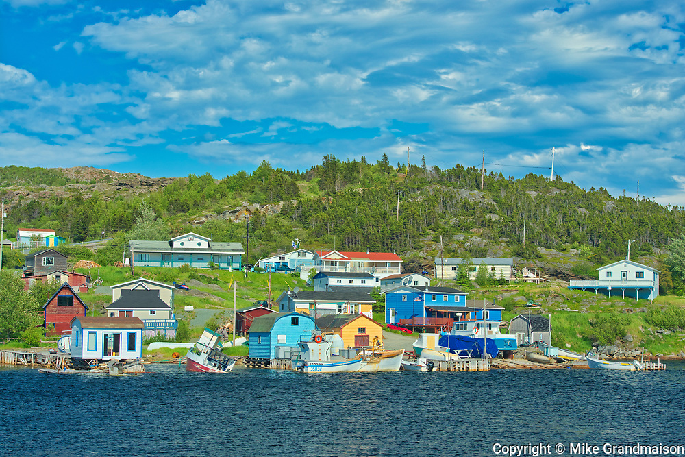 FIshing village. Baie Verte Peninsula. Atlantic Ocean. <br />Fleur de Lys<br />Newfoundland & Labrador<br />Canada