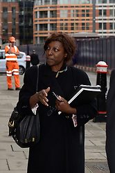 Chris Huhne's barrister Constance Briscoe pictured at The Old Bailey, London, in connection with the Chris Huhne case where allegedly she denies two counts of intending to pervert the course of justice. Friday, 4th of October 2013. Picture by Ben Stevens / i-Images