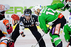 Faceoff during ice-hockey match between HDD Tilia Olimpija and HK Acroni Jesenice in 3rd Round of EBEL league, on September 16, 2011 at Hala Tivoli, Ljubljana, Slovenia. (Photo By Matic Klansek Velej / Sportida)