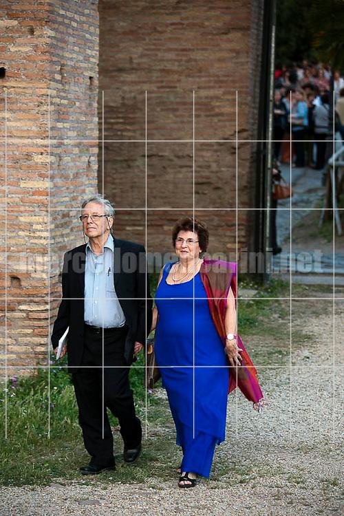"""""""Festival of Literatures"""", Rome 2012. Israeli writer Amos Oz and his wife Nily Zuckerman / """"Festival Letterature"""", Roma 2012. Lo scrittore Amos Oz e sua moglie Nily Zuckerman - © Marcello Mencarini"""
