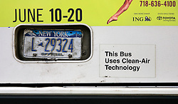 USA NEW YORK 6JUN10 - Electric hybrid bus using clean air technology in midtown Manhattan, New York...jre/Photo by Jiri Rezac..© Jiri Rezac 2010