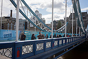 Open As Usual: The start of repairs to London's Tower Bridge, closed to traffic and disrupting this major Thames crossing and surrounding roads for the next three months.