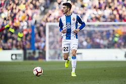 March 30, 2019 - Barcelona, Catalonia, Spain - RCD Espanyol defender Mario Hermoso (22) during the match FC Barcelona v RCD Espanyol, for the round 29 of La Liga played at Camp Nou  on 30th March 2019 in Barcelona, Spain. (Credit Image: © Mikel Trigueros/NurPhoto via ZUMA Press)