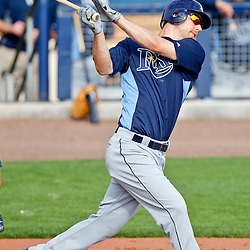 February 25, 2011; Port Charlotte, FL, USA; Tampa Bay Rays right fielder Ben Zobrist (18) during a spring training split squad scrimmage at Charlotte Sports Park.  Mandatory Credit: Derick E. Hingle