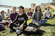 SAN FRANCISCO, CA – SEPTEMBER 3, 2015: College students in the class of 2019 participate in orientation at Minerva.<br /> <br /> Minerva is a unique 21st century university built on a global four-year education model. It is deliberately designed to enhance intellectual growth and prepare students for success in today's rapidly changing global context. Founded in 2014, the university targets the developing world's rising middle class who seek an elite American education. With a 2.8% acceptance rate among the founding class, Minerva is the most selective undergraduate program in U.S. history.
