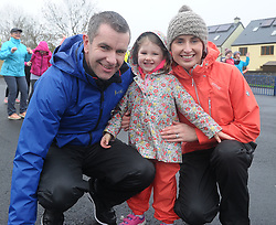 Sarah Connell with parents Brian and Annmarie originally from Kildare enjoying the Operation Transformation walk hosted by Westport GAA club on saturday last.<br />