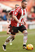 Ben Davies during the Sky Bet League 1 match between Sheffield Utd and Swindon Town at Bramall Lane, Sheffield, England on 31 January 2015. Photo by David Charbit.