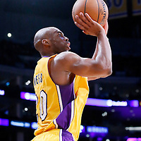 04 April 2014: Los Angeles Lakers guard Jodie Meeks (20) takes a jump shot during the Dallas Mavericks 107-95 victory over the Los Angeles Lakers at the Staples Center, Los Angeles, California, USA.