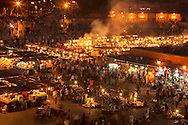 Place Djemaa el Fna in Marrakech at night.