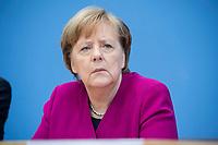 12 MAR 2018, BERLIN/GERMANY:<br /> Angela Merkel, CDU, Bundeskanzlerin, waehrend einer Pressekonferenz zum Koalitionsvertrag der CDU/CSU und SPD, Bundespressekonferenz<br /> IMAGE: 20180312-01-038