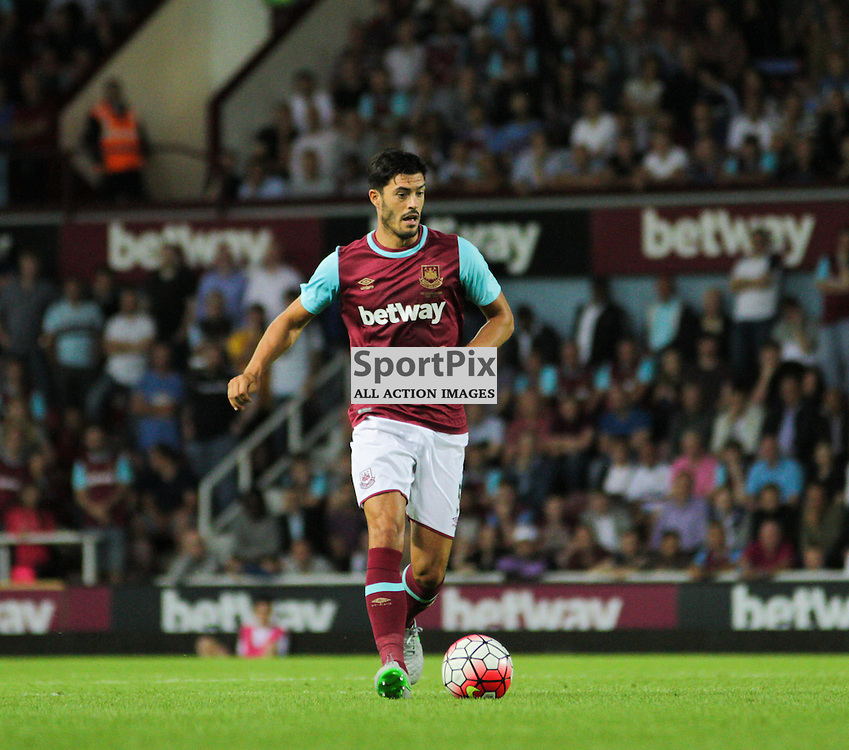 James Tomkins on the ball During West Ham United vs Birkirkara FC, Europa League Match on Thursday 16th July 2015