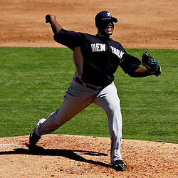 March 05, 2011; Clearwater, FL, USA; New York Yankees starting pitcher Michael Pineda (35) during a spring training game against the Philadelphia Phillies at Bright House Networks Field. Mandatory Credit: Derick E. Hingle-US PRESSWIRE