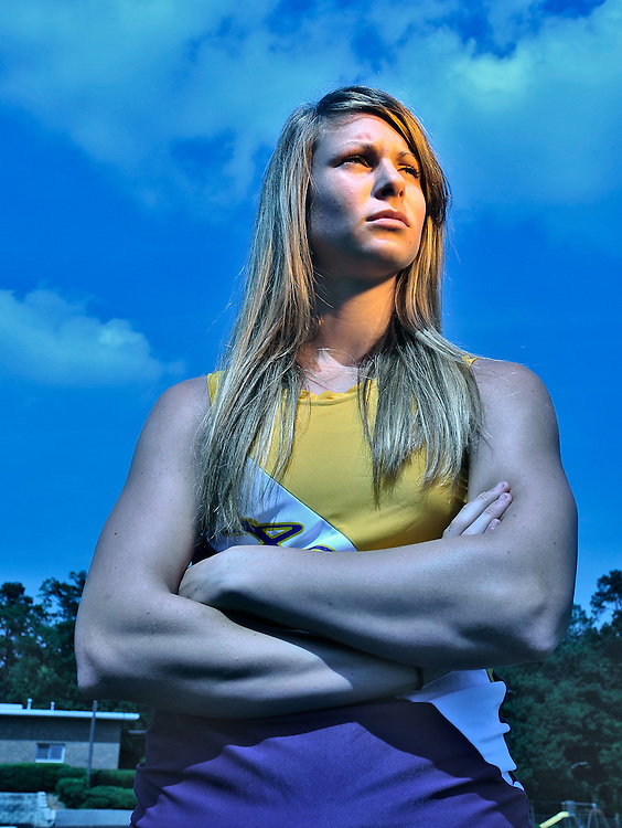 Athens Christian's Mary Echols, pictured here at Athens Christian School on Friday, June 11, 2010 in Athens, Ga., is this years female track athlete of the year.  .