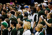 Students cheer for the Bobcats Tuesday duringthe game against Central Michigan at the Convo. photo by Kevin Riddell