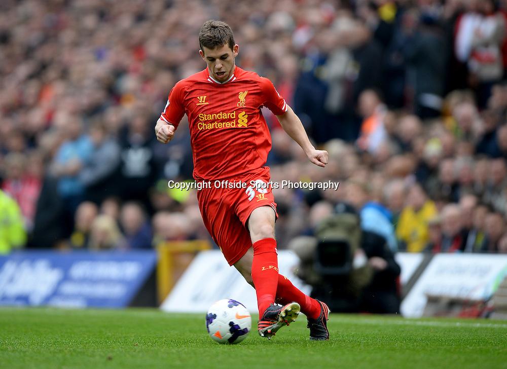 20 April 2014 - Barclays Premier League - Norwich City v Liverpool - Jon Flanagan of Liverpool - Photo: Marc Atkins / Offside.