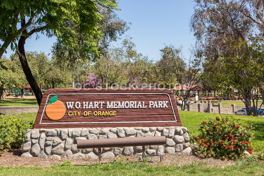 W.O. Hart Memorial Park Monument in the City of Orange California