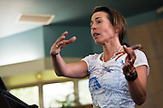 Legal Affairs Director for Compassion and Choices Kathryn Tucker, J.D., speaks about the utility of the Death With Dignity Act in Oregon for end of life choices and aid in dying at the Unity Church of North Idaho on Saturday.