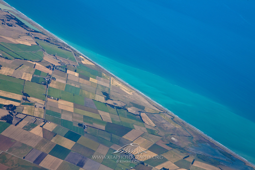 Agricultural coastline, South Island, New Zealand
