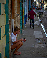 Sidewalk View. Morning Walkabout in Old Havana. Image taken with a Leica T camera and 23 mm f/2 camera.