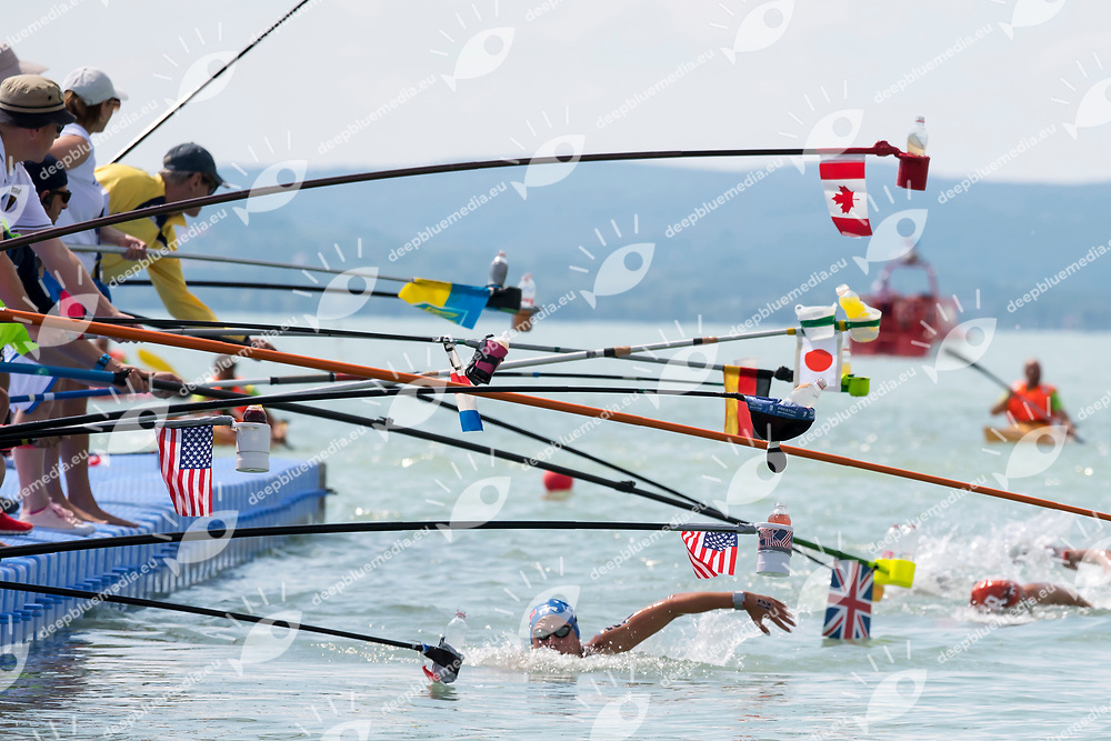 Feeding <br /> Women's 10Km <br /> Open Water Swimming Balatonfured<br /> Day 03  16/07/2017 <br /> XVII FINA World Championships Aquatics<br /> Lake Balaton Budapest Hungary  <br /> Photo Andrea Staccioli/Deepbluemedia/Insidefoto