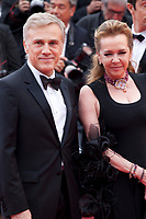 Actor Christoph Waltz and Artistic Director and Co-President of Chopard Caroline Scheufele at the Yomeddine gala screening at the 71st Cannes Film Festival, Wednesday 9th May 2018, Cannes, France. Photo credit: Doreen Kennedy