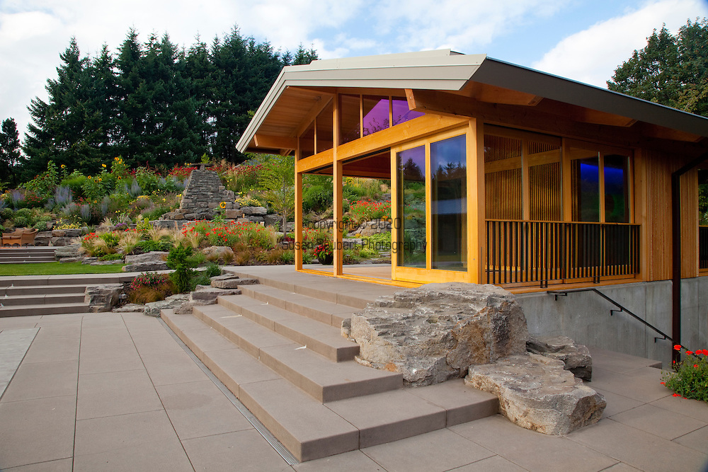 View of the yoga pavilion