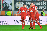 1:2 Jubel v.l. Daniel Brosinski, Torschuetze Yunus Malli, Stefan Bell (Mainz) <br /> Augsburg, 18.09.2016, Fussball Bundesliga, FC Augsburg - FSV Mainz 05 1:3<br /> Norway only