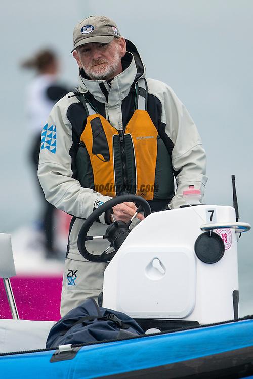 2012 Olympic Games London / Weymouth<br /> Match Race day 3 round robin<br /> Brad Dellenbaugh Coach US Sailing Match Race Team