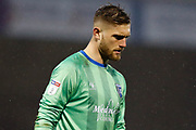 Gillingham goalkeeper Tomas Holy (1), Sky Bet logo, during the EFL Sky Bet League 1 match between Gillingham and Wycombe Wanderers at the MEMS Priestfield Stadium, Gillingham, England on 15 December 2018.
