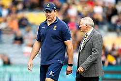 Worcester Warriors Director of Rugby Alan Solomons and Worcester Warriors Head Coach Rory Duncan  - Mandatory by-line: Robbie Stephenson/JMP - 15/09/2018 - RUGBY - Sixways Stadium - Worcester, England - Worcester Warriors v Newcastle Falcons - Gallagher Premiership