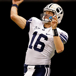 Sep 12, 2009; New Orleans, LA, USA;  BYU Cougars quarterback Brenden Gaskins (16) against the Tulane Green Wave at the Louisiana Superdome.  BYU defeated Tulane 54-3. Mandatory Credit: Derick E. Hingle-US PRESSWIRE