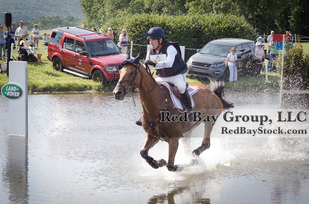 Phillip Dutton riding Fernhill Fugitive competes in the Cross Country phase of the 2016 Land Rover Great Meadow International on Sunday, July 10, 2016, at the Great Meadow Foundation in The Plains, VA.