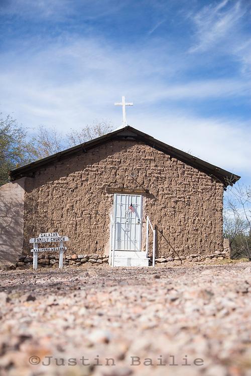 Church along road (east entrance) Aravaipa Canyon Preserve, AZ. (not on TNC property)
