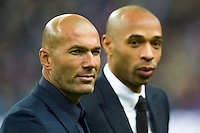 Zinedine Zidane / Thierry Henry  - 26.03.2015 - France / Bresil - Match Amical<br />