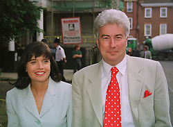 KEN & BARBARA FOLLETT, he is the writer she is an MP, at a party in London on 25th June 1998.MIT 83