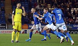 Joe Ward of Peterborough United celebrates scoring his match-winning goal - Mandatory by-line: Joe Dent/JMP - 23/11/2019 - FOOTBALL - Weston Homes Stadium - Peterborough, England - Peterborough United v Burton Albion - Sky Bet League One