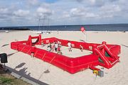 Sylt, Germany. Hörnum. 25th Hafenfest (Harbor Festival). Beach soccer.