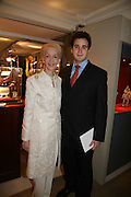 LADY BARBARA JUDGE AND HER SON LLOYD THOMAS,  Grosvenor House Art & Antiques Fair charity gala evening in aid of Coram Foundation. Grosvenor House. Park Lane. London. 14 June 2007.  -DO NOT ARCHIVE-© Copyright Photograph by Dafydd Jones. 248 Clapham Rd. London SW9 0PZ. Tel 0207 820 0771. www.dafjones.com.