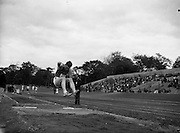02/07/1960<br /> 07/02/1960<br /> 02 July 1960<br /> A.A.U. All-Ireland Championships 1960, Santry Stadium, Dublin. Long Jump holder, Dr. N.G. Hamilton, Instonians A.C. competing at Santry.