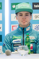 Nika Kriznar during press conference before FIS Ski World Cup Ladies competition in Ljubno 2018 on January 24, 2018 in BTC, Ljubljana, Slovenia. Photo by Urban Urbanc / Sportida