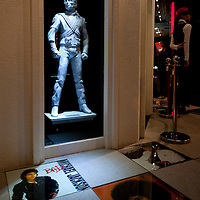 "MACAU - FEBRUARY 01:  The 10-foot Michael Jackson ""History"" statue sculture is displayed during the opening ceremony of the MJ Gallery at Ponte 16 Resort-Macau on February 1, 2010 in Macau, China.  Photo by Victor Fraile / studioEAST"