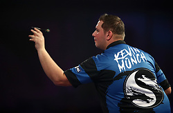 Kevin Munch during his match against Toni Alcinas  during day eleven of the William Hill World Darts Championship at Alexandra Palace, London.