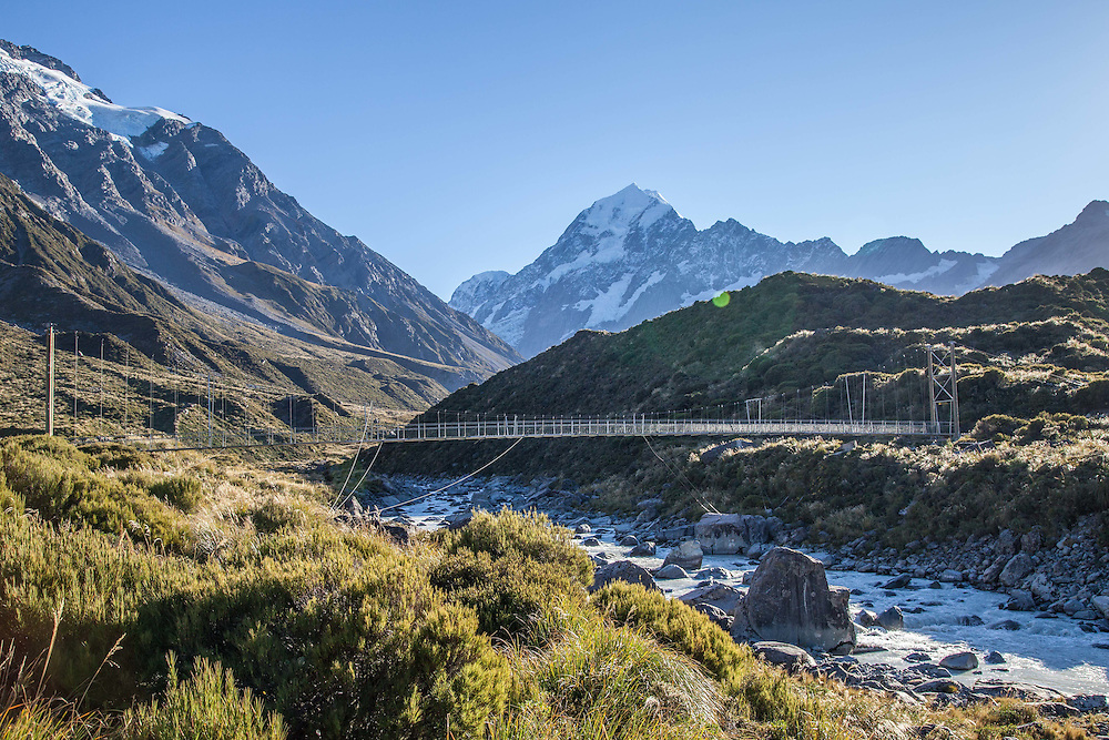 Third swing bridge on the Hooker Valley track