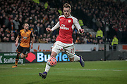 Calum Chambers (Arsenal) during the The FA Cup fifth round match between Hull City and Arsenal at the KC Stadium, Kingston upon Hull, England on 8 March 2016. Photo by Mark P Doherty.