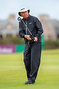 Kirk Triplett during the final round of the Rolex Senior Golf Open at St Andrews, West Sands, Scotland on 29 July 2018. Picture by Malcolm Mackenzie.