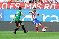 Atletico de Madrid´s Guilherme Siqueira and Athletic Club´s Unai Bustinza during 2014-15 La Liga match between Atletico de Madrid and Athletic Club at Vicente Calderon stadium in Madrid, Spain. May 02, 2015. (ALTERPHOTOS/Luis Fernandez)