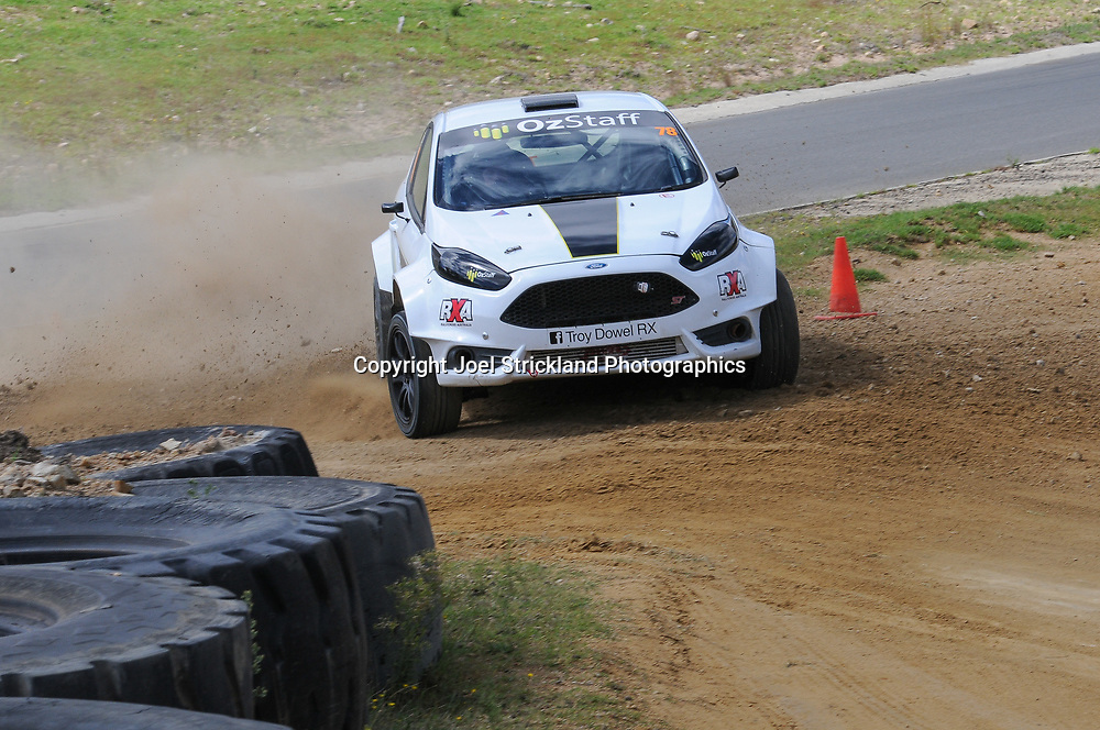 Troy Dowel - Rallycross Australia - Rnd 1 - February 26th 2017. MARULAN DIRT & TAR CIRCUITS, MARULAN, NSW