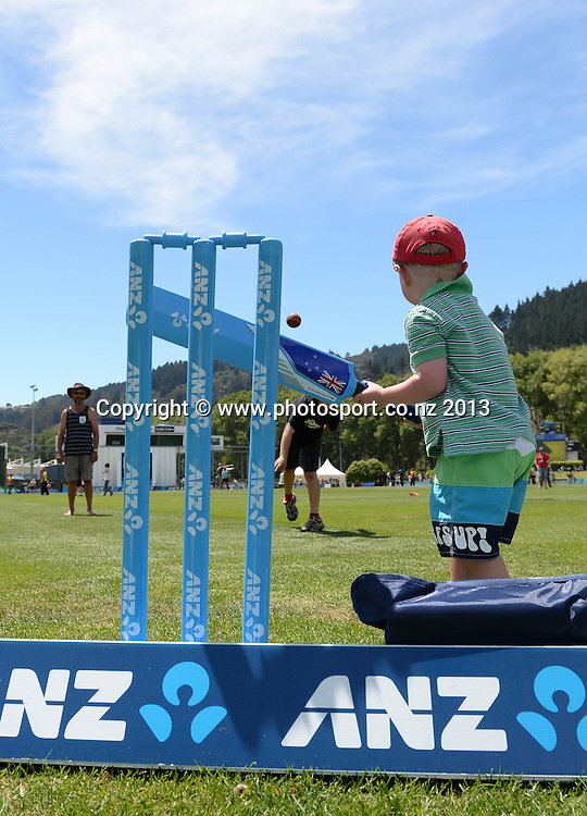 ANZ activities at the lunch break on Day 4 of the 1st cricket test match of the ANZ Test Series. New Zealand Black Caps v West Indies at University Oval in Dunedin. Friday 6 December 2013. Photo: Andrew Cornaga/www.Photosport.co.nz