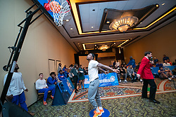 "The Florida Gators participate in the ""Battle for Bowl Week"" Basketball Challenge on Tuesday, December 25, 2018, in Atlanta. ""Battle for Bowl Week"" consists of a series of events that each team participates in, with the overall winning team taking home the ""Battle for Bowl Week"" belt; Florida will face Michigan in the 2018 Chick-fil-A Peach Bowl NCAA football game on December 29, 2018. (Carmen Mandato via Abell Images for the Chick-fil-A Peach Bowl)"