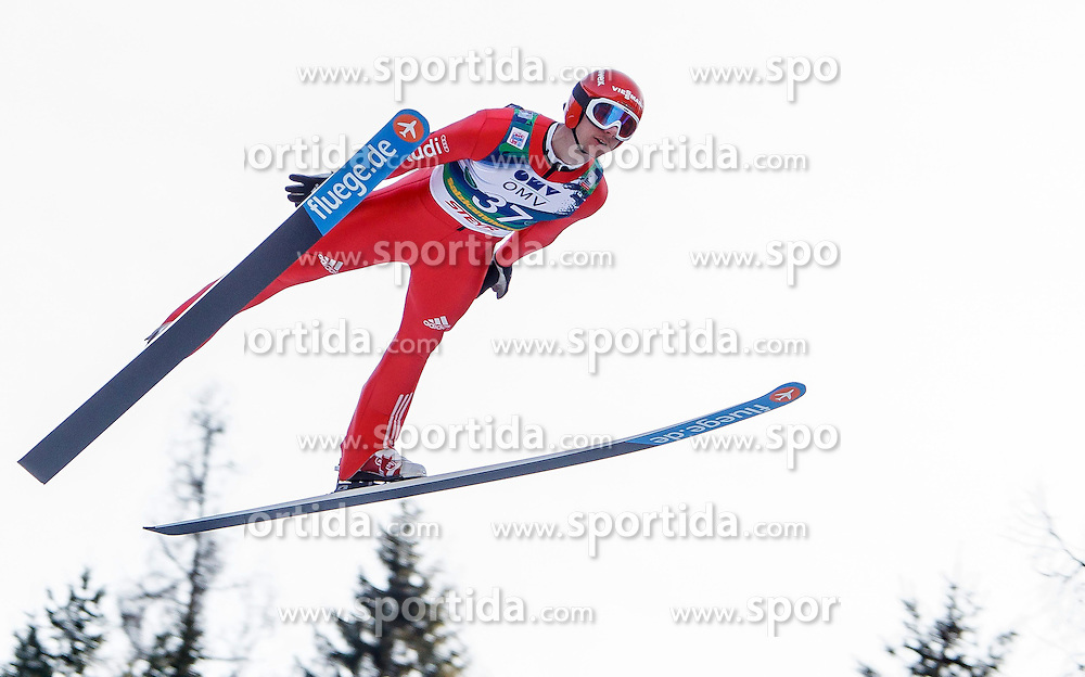 12.01.2014, Kulm, Bad Mitterndorf, AUT, FIS Ski Flug Weltcup, Erster Durchgang, im Bild Andreas Wank (GER) // Andreas Wank (GER) during the first round of FIS Ski Flying World Cup at the Kulm, Bad Mitterndorf, .Austria on 2014/01/12, EXPA Pictures © 2013, PhotoCredit: EXPA/ Erwin Scheriau